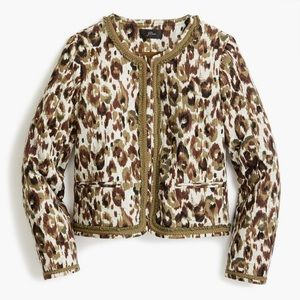 BOGO! J. Crew Lady Jacket Quilted Camo Leopard